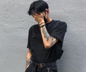 boy, black, and tattoo image