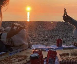 adventure, pizza, and sea image