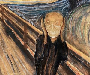 bridge, painting, and the scream image