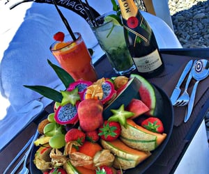 food, fruit, and drinks image