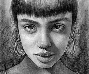 art, drawings, and pencil drawings image