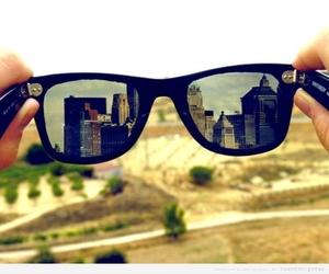 city, glasses, and sunglasses image