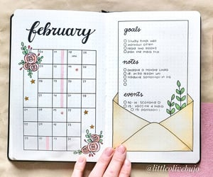 bujo, bullet journal, and study image