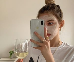 face mask, girl, and skincare image