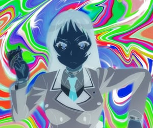 anime, edit, and trippy image