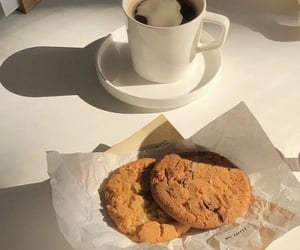 aesthetic, coffee, and cookie image