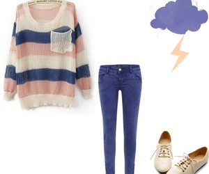 jeans, shoes, and sweater image