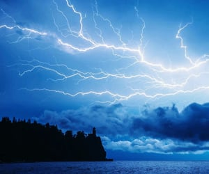 blue, lightning, and night image