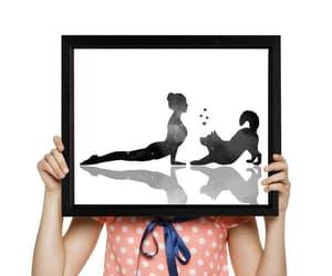 etsy, yoga pose, and yoga printable image