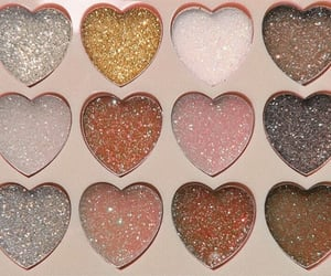 makeup, glitter, and heart image