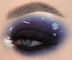 art, colorful, and eye makeup image