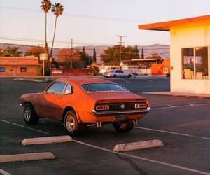 car, orange, and 90s image
