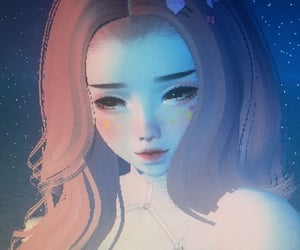blue, cyber, and doll image