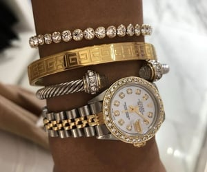 rolex, accessories, and gold image