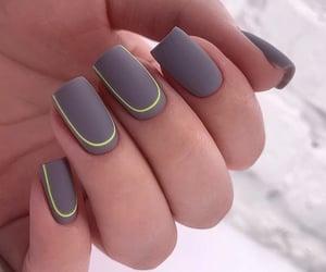 dark grey, nail art, and nails image