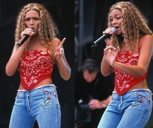bandana, top, and queen b image