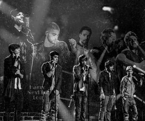 band, liam payne, and black and white image