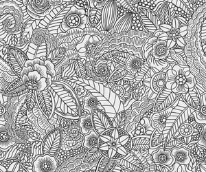 black and white, flowers, and floral image