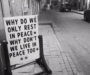 black and white, peace, and photo image