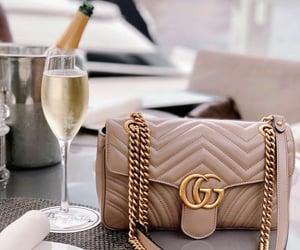 gucci, champagne, and fashion image