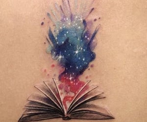 art, tattoo, and book image