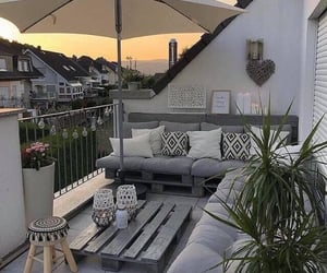 balcony, decor, and home image