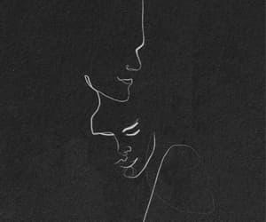 art, love, and black image
