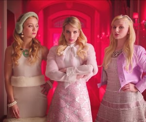 mean girls, pink, and scream queens image