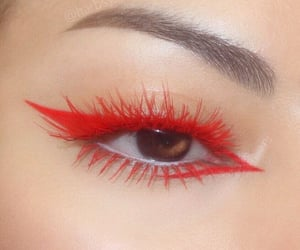 makeup, aesthetic, and red image