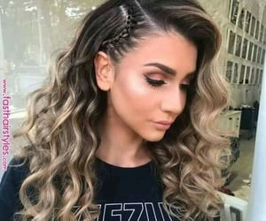 braids, hair styles, and wave hair image