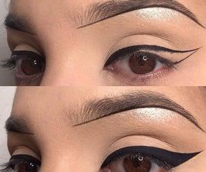 make-up, arrows, and eyes makeup image