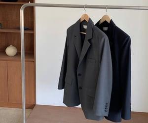 blazer, fashion, and grey image