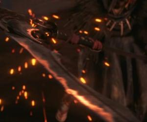 metal, orange, and scythe image