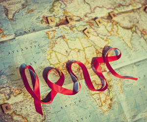 love, map, and world image