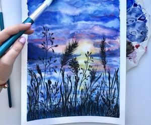 art, mood, and sketch image