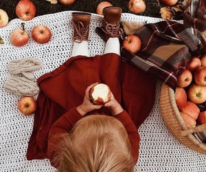 apple, autumn, and child image