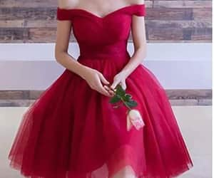 dress, fasion, and rouge image