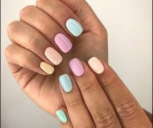 mani, manicure, and nails image