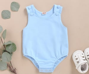 baby clothes, blue, and comfortable image
