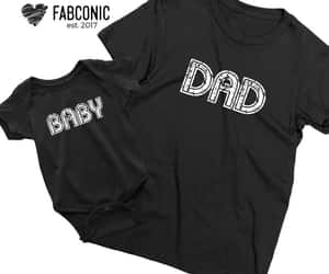 boy, father son, and matching shirts image
