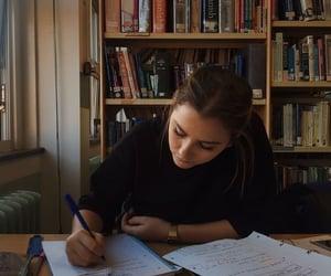 study, girl, and school image