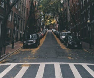 street, car, and city image