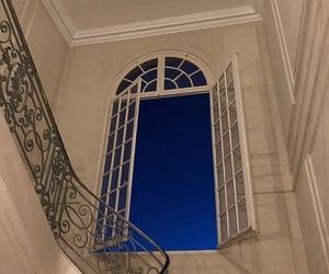night, window, and sky image