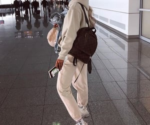 airport, girl, and outfit image
