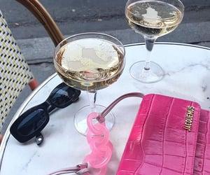bag, champagne, and paris image