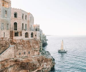 architecture, ocean, and sailing image