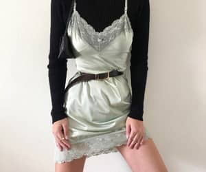 belt, outfit, and silk image