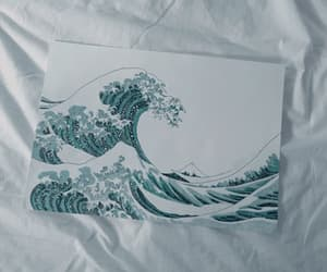 blue and wave image