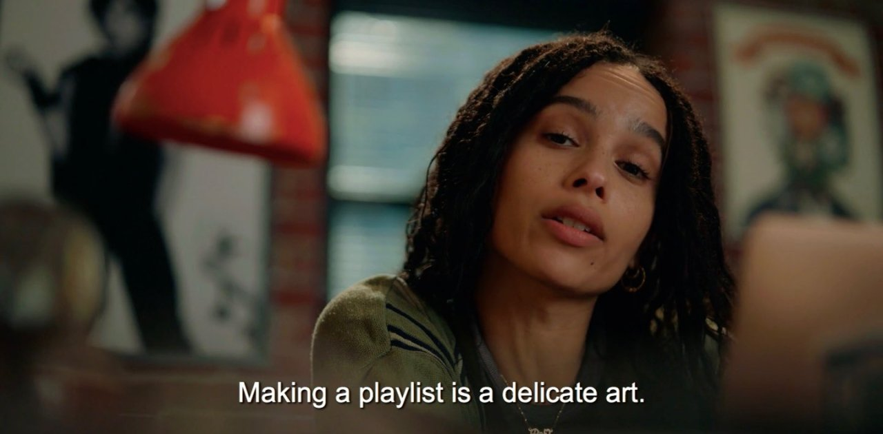 zoe kravitz and high fidelity image