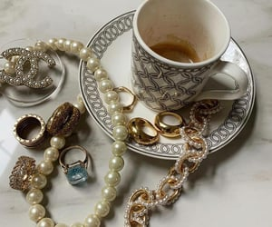 nails, pearls, and coffee image